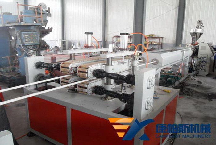 PVC threading pipe production line